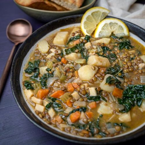 Lebanese Lentil Soup with Lemon