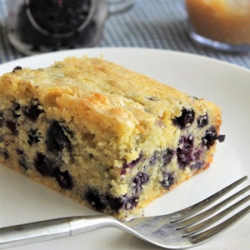 Blueberry Cornbread w/ Honey Butter