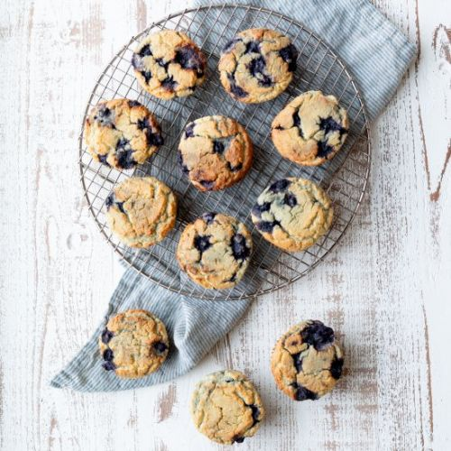 Low-Sugar Blueberry & Brie Muffins