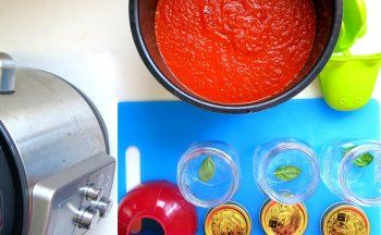 Large Batch Tomato Sauce -Pressure Cook 6 Pounds at Once!