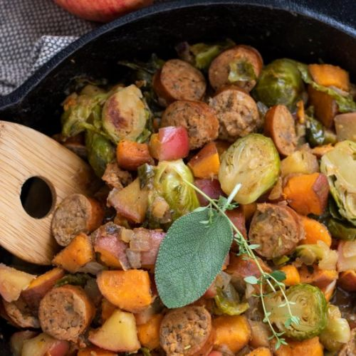 Chicken Sausage & Apple Skillet