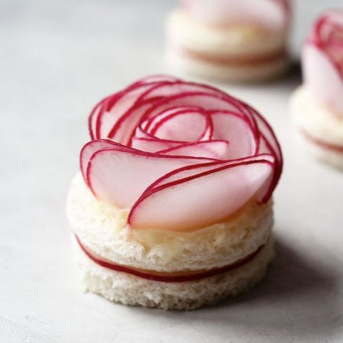 Radish Rose Tea Sandwiches