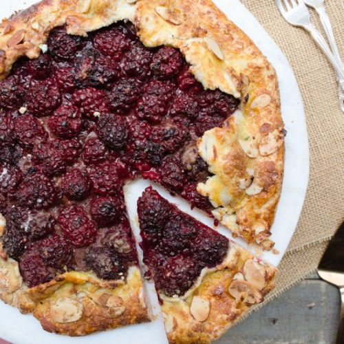 Blackberry almond galette