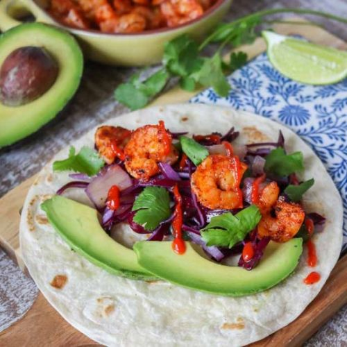 Shrimp Tacos with Pineapple Slaw