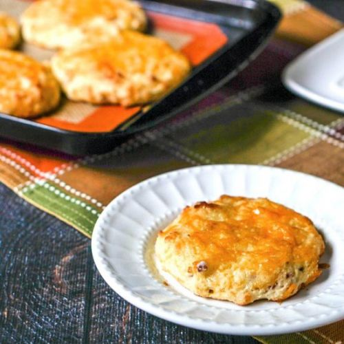 Low Carb Bacon Cheddar Scones