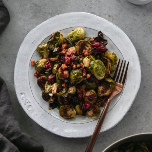 Cranberry Pancetta Brussels Sprouts
