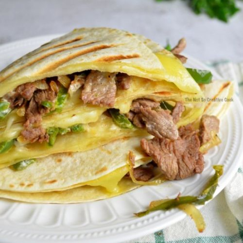 CHEESESTEAK TORTILLA SANDWICH