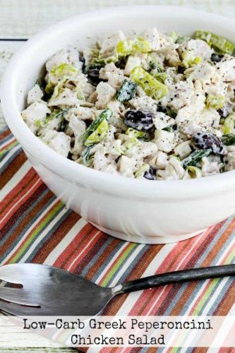 Low-Carb Greek Peperoncini Chicken Salad