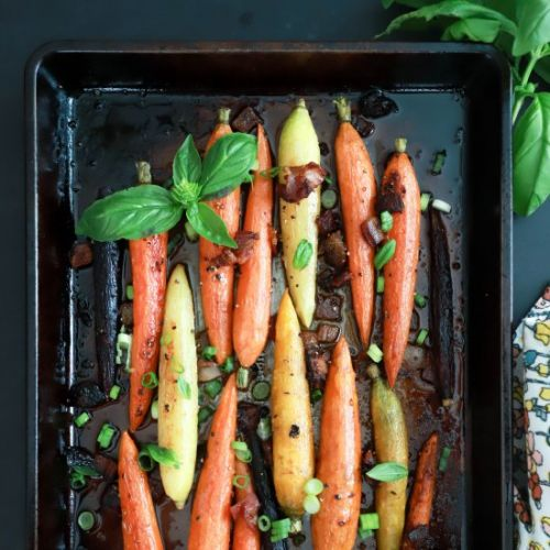 Roasted Carrots with Bacon