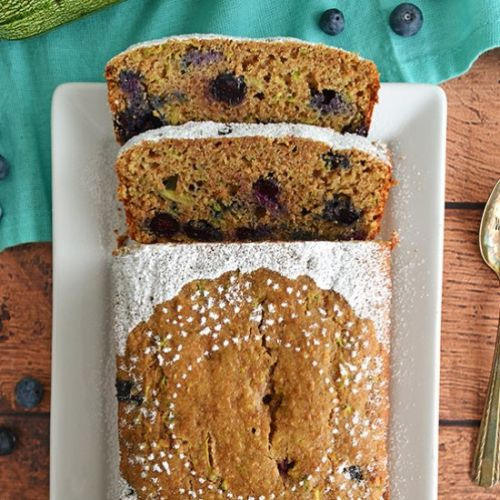 Zucchini and Blueberry Loaf Cake