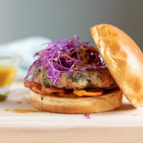 Ginger-Scallion Turkey Burgers
