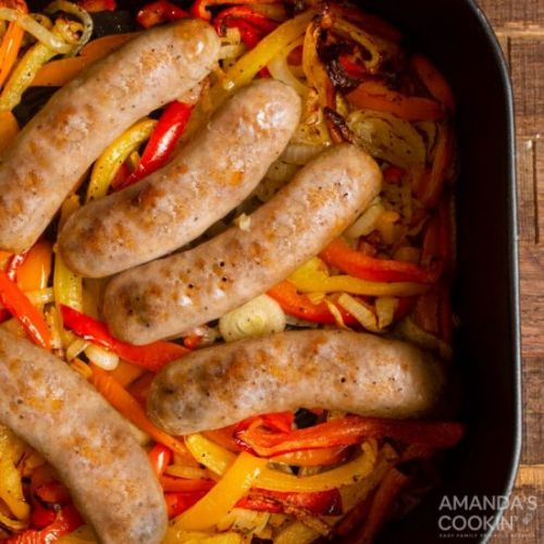 Air Fryer Italian Sausage & Peppers