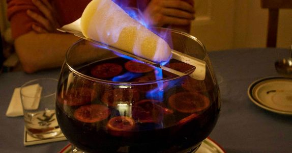 This Festive German Fire Punch Is Quite Literally Lit