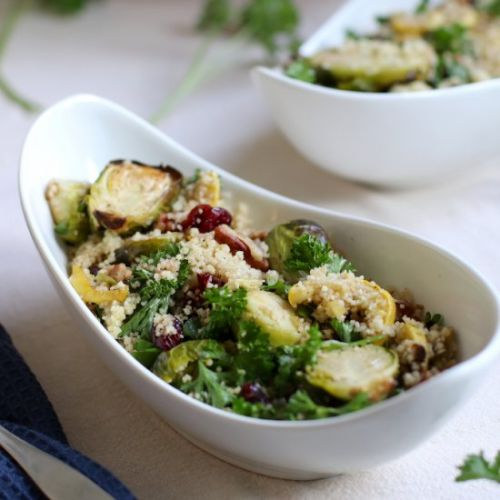 Couscous Salad with Roasted Brussel
