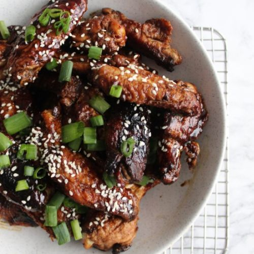 Sticky Soy Balsamic Wings