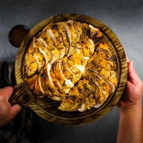 Roasted Turkey Breast Brown Butter