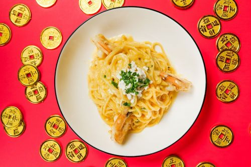 Casa Barilla Celebrates Lunar New Year With Spaghetti Salted Egg With Jumbo Shrimp Entrée