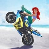 Disney Princesses Are Reimagined as Badass Motorcycle-Riding Babes in This Artwork
