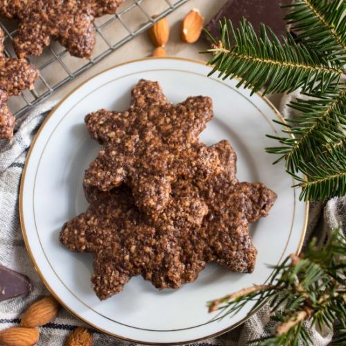 Chocolate Almond Spice Cookies