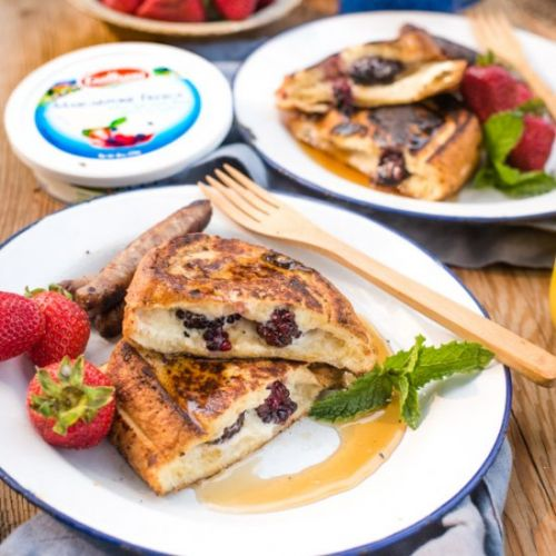 Easy Camping Stuffed French Toast