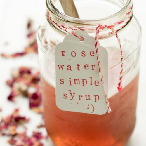Rose Water Simple Syrup