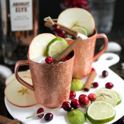 Cranberry Apple Cider Moscow Mule