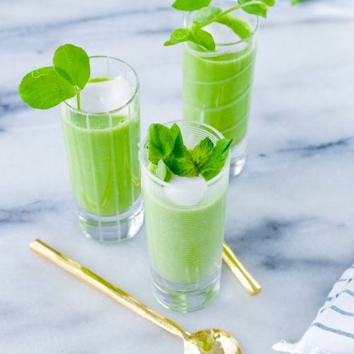 Chilled Pea Gazpacho Shooters