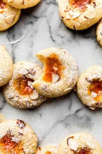 Apricot Cream Cheese Thumbprint Cookies