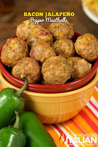 Bacon Jalapeño Popper Meatballs