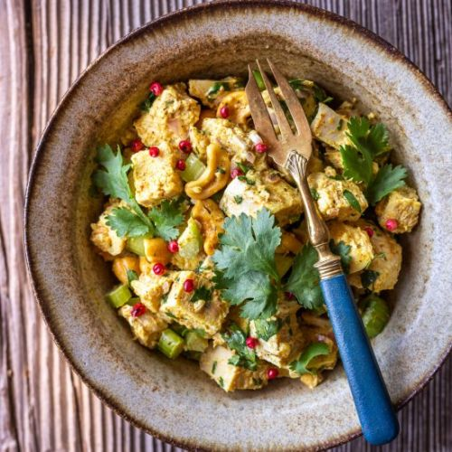 Curried Chicken Salad with Cashews