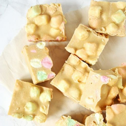 Butterscotch Marshmallows Squares