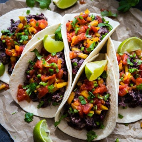 Bean Tacos with Tomato Salsa