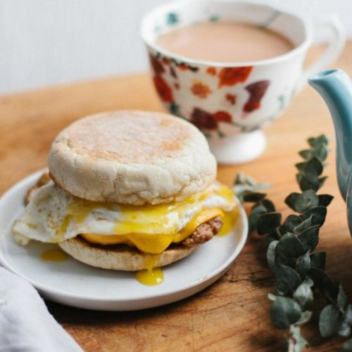 Maple Butter Sausage Egg Muffin