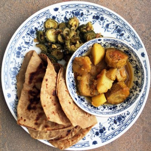 Potato Raw Banana Curry