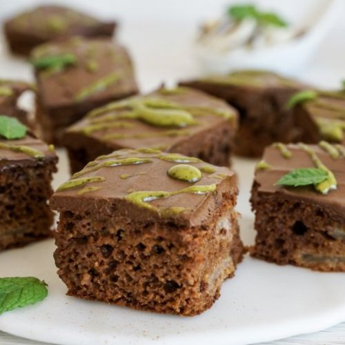 Pear & Chocolate Paleo Brownies