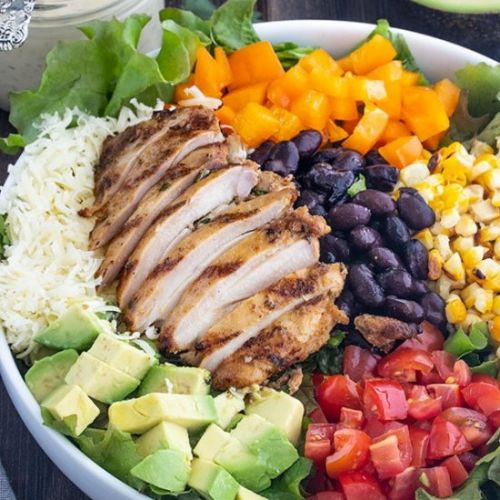 Salad with Tequila Lime Chicken