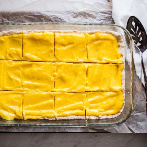 Gluten Free Lemon Shortbread Bars