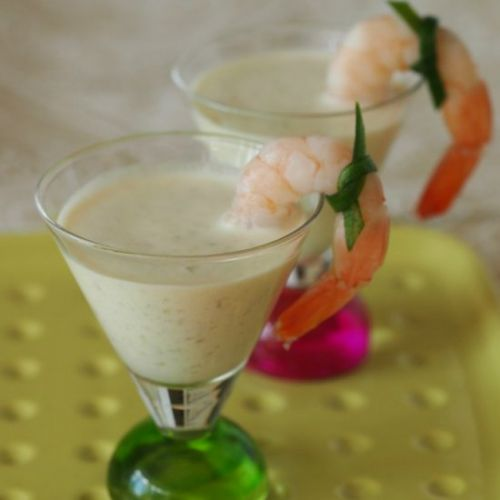 Chilled Prawn And Cucumber Soup