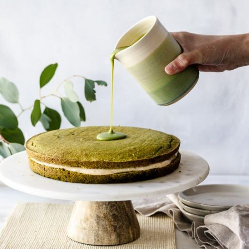 Matcha Boston Cream Pie