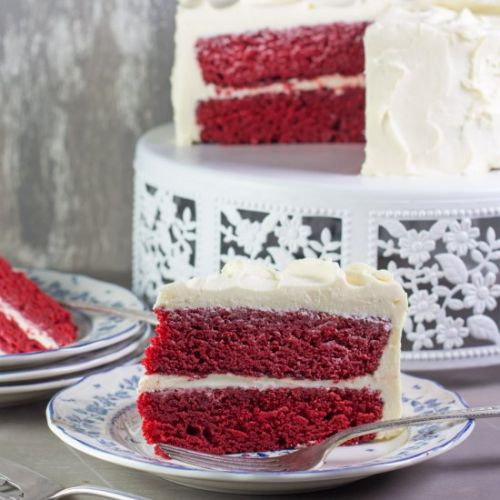 Low FODMAP Red Velvet Cake