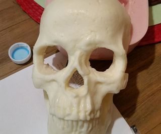Making a food grade silicone mold for a chocolate skull