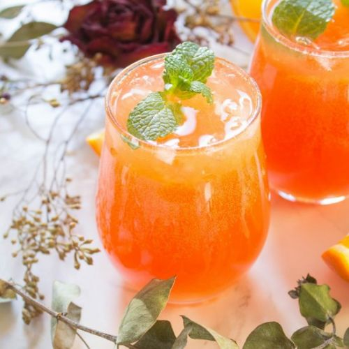 Sparkling Hibiscus Orange Soda