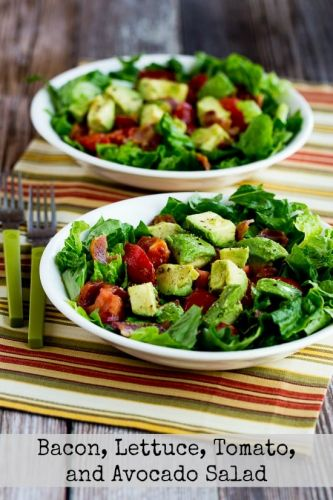 Bacon, Lettuce, Tomato, and Avocado Salad