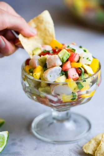 Pineapple and Mango Shrimp Ceviche