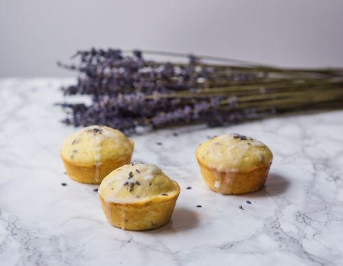 Glazed Lavender Lemon Cakes