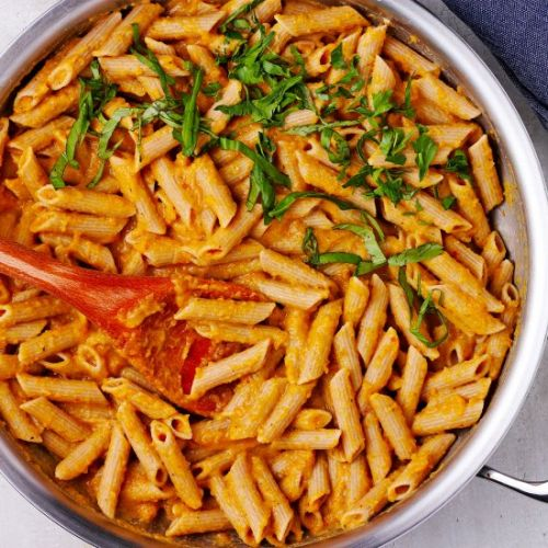 Chickpea sauce with penne