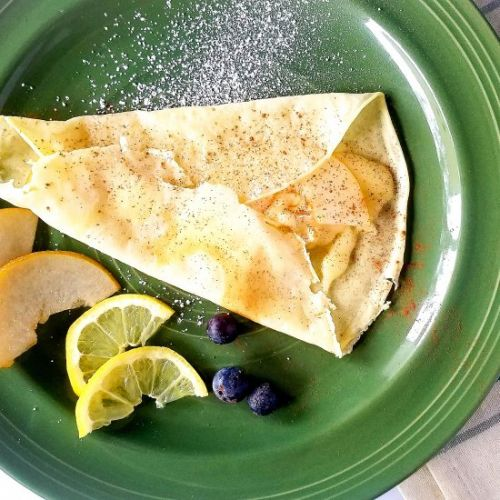 Pear, Brie, and Cinnamon Crepes