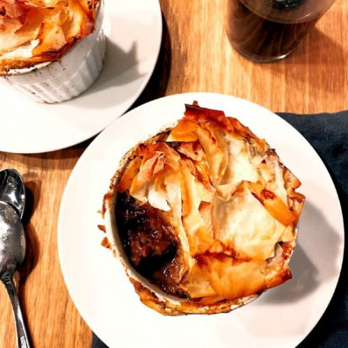 Individual Beef Guinness Pies