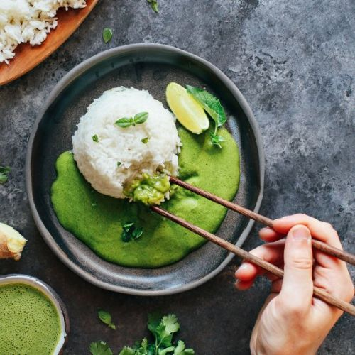 Instant Pot Sticky Rice Green Curry