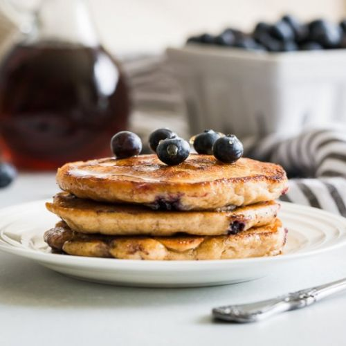 Fluffy Paleo Blueberry Pancakes